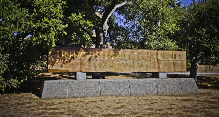 UCSC Lower Entrance Sign